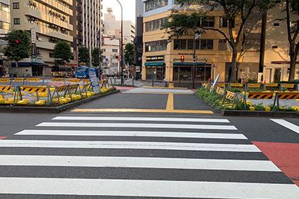 ドトール方面に横断歩道を直進します。